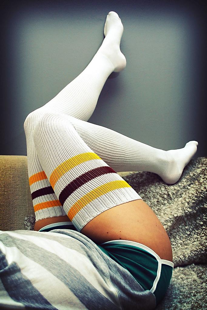 Stripe Thigh High Socks  Frans De Wilde  Flickr-4628