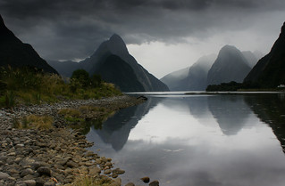 Rain Approaching Milford Sound, New Zealand | by Kenny Muir