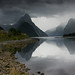 Rain Approaching Milford Sound, New Zealand