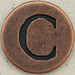 Copper Uppercase Letter C