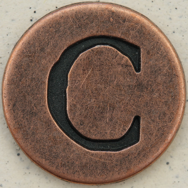 Copper Uppercase Letter CUppercase Letter C