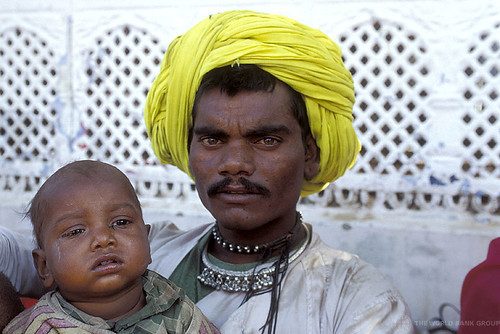 Portrait of father and child. India | by World Bank Photo Collection