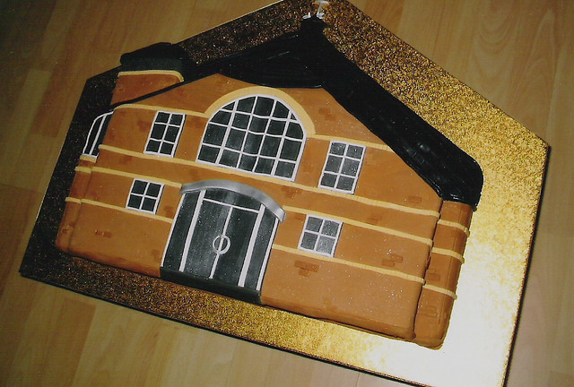White Church Cake Topper