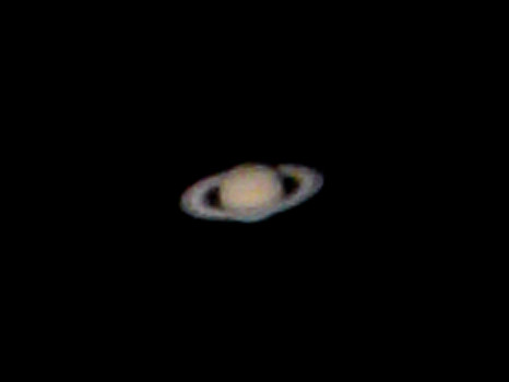 Saturn - Not exactly Hubble quality ;O)   First attempt at ...