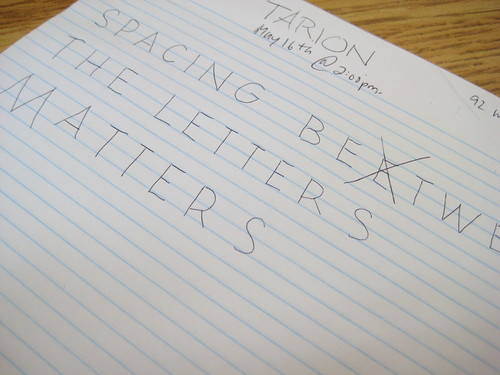 Spacing Between The Letters Matters | by brianwolk