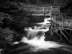 Bridge over lower gorge falls