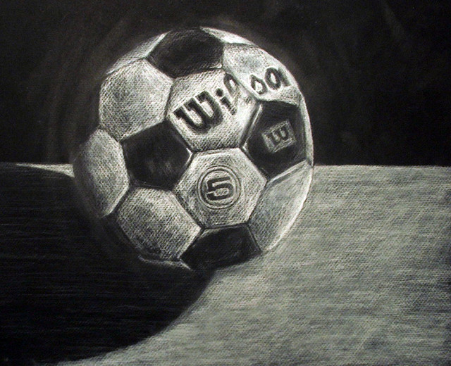 Soccer Ball This Was A Still Life Done Frmo A Drawing