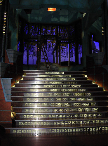 tour of the set of stargate atlantis  gate room stairs