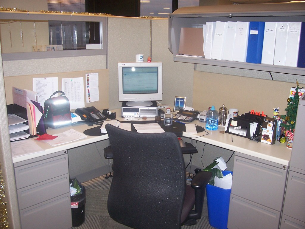 Joyce's cubicle 1 | Joyce's cubicle decorated for ...