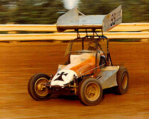 1973 Jan Opperman On The Gas At Selinsgrove