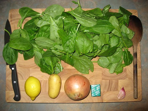 how to make spinach soup in a soup maker