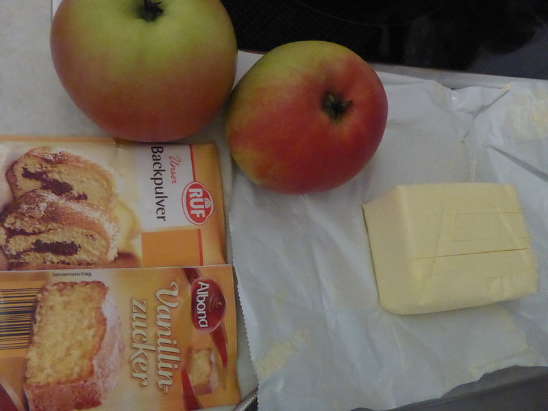 Apfelkuchen backen 002