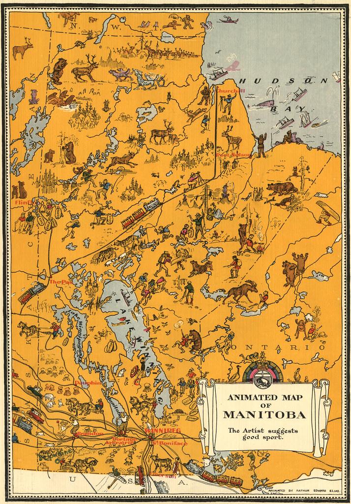 Manitoba Natural Resources Map