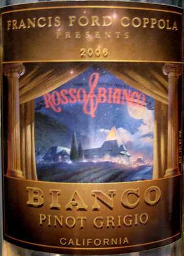 Francis Ford Coppola 2006 Bianco Pinot Grigio (front) | by 2 Guys Uncorked