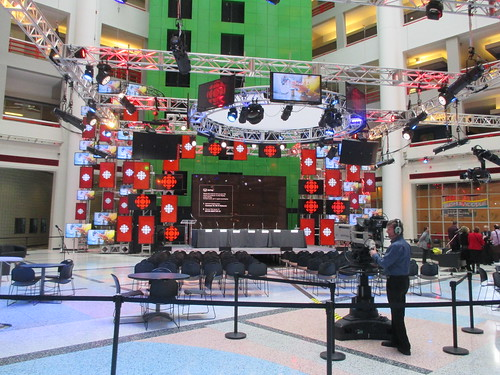 Barbara Frum Atrium, ready for filming