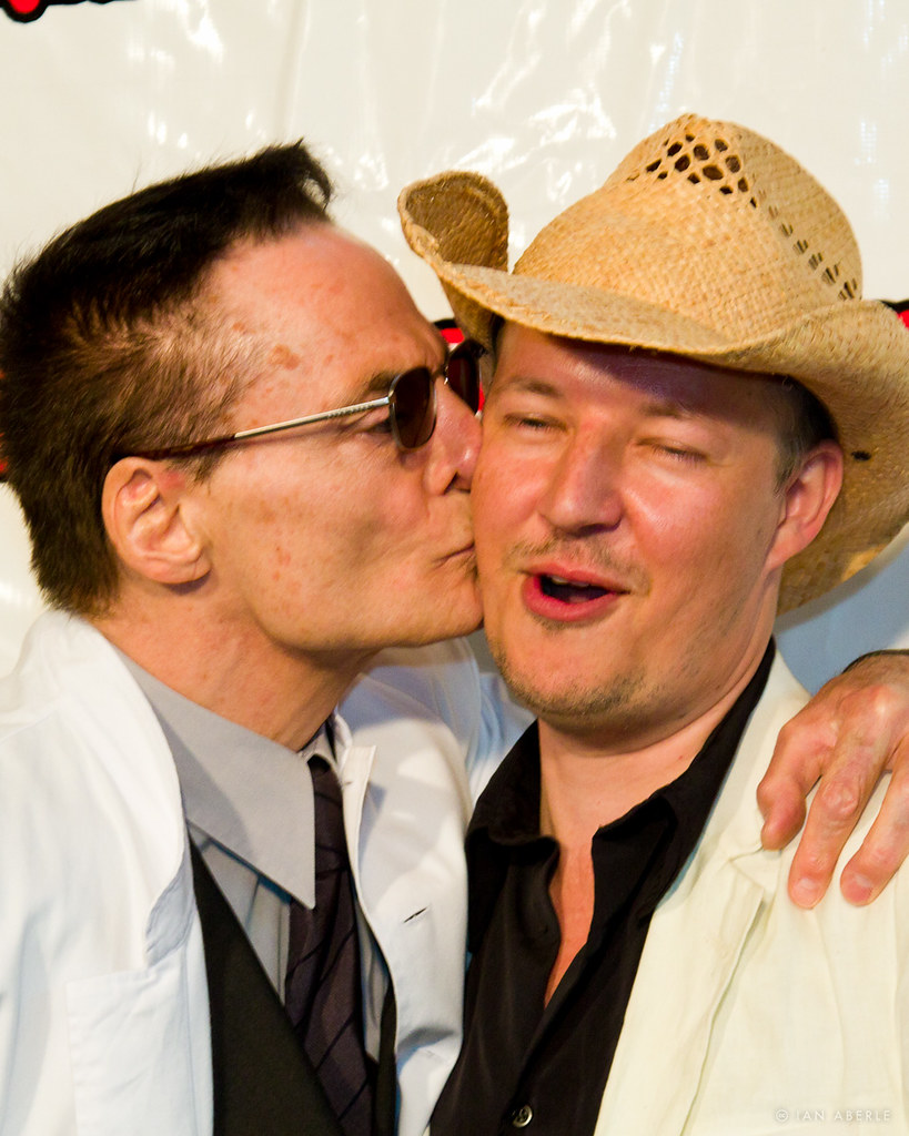 Dieter Laser Gives Tom Six A Quick Kiss On The Red Carpet