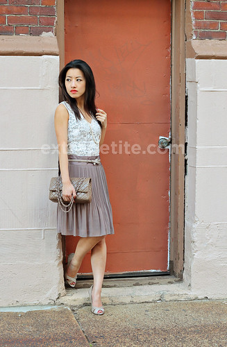 PleatedSkirt_wall2 | by ExtraPetite.com