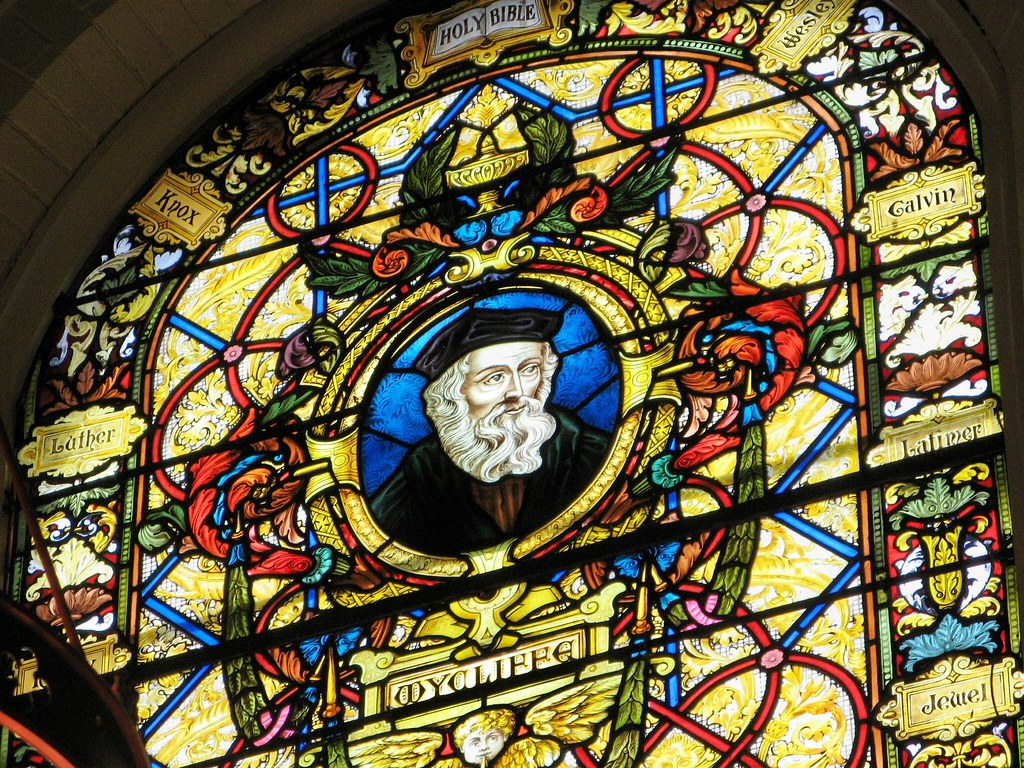 Stained Glass of John Wycliffe