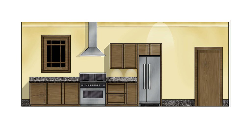 Kitchen Elevation Digital Imaging Practice January 28