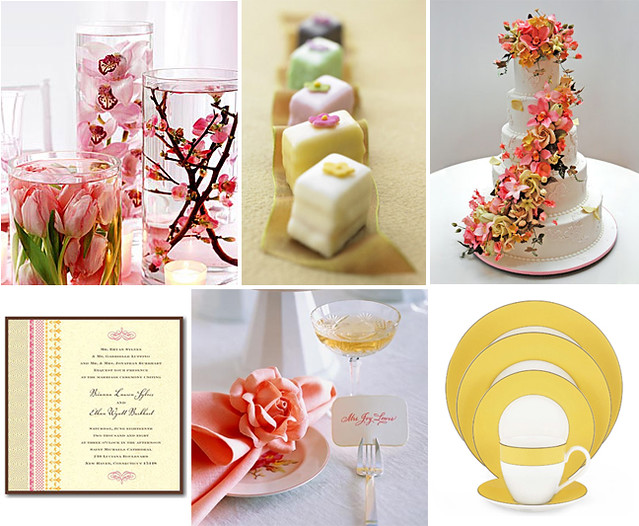 pink yellow spring bridal shower theme by tastefully entertaining