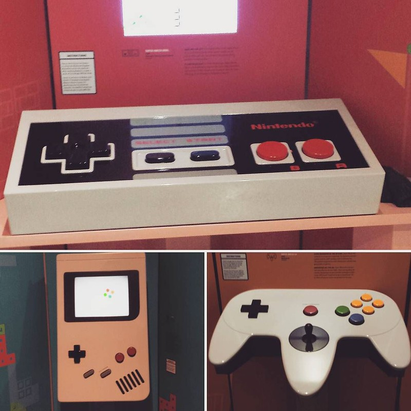 Made our way to the game exhibit at WDM today, the oversized controllers were fun! #yxe #wdmsaskatoon