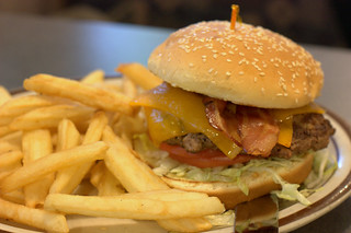 denny's bacon cheddar burger | by goodiesfirst