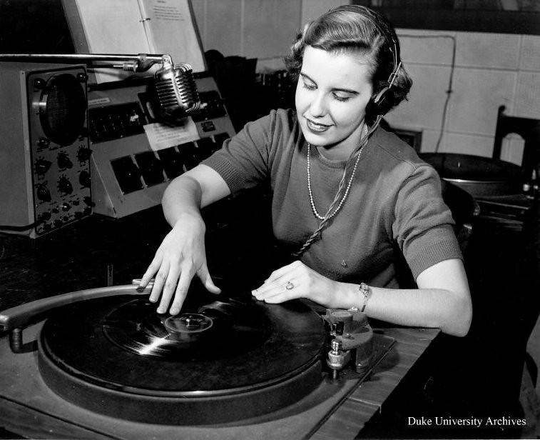 Wdbs Dj Anne Ellison 1950 Repository Duke University