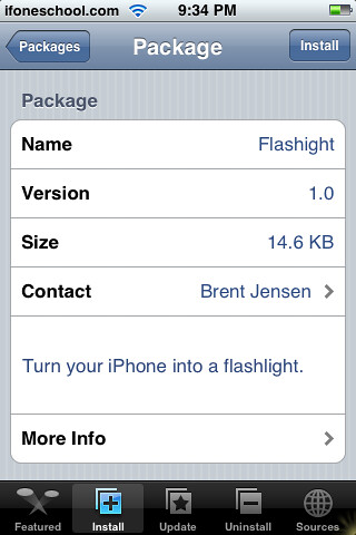 how to find flashlight on iphone