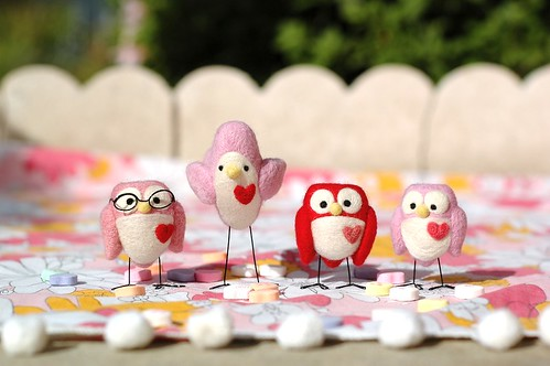 The Valentine's birds are having a picnic. | by Lauren Alane