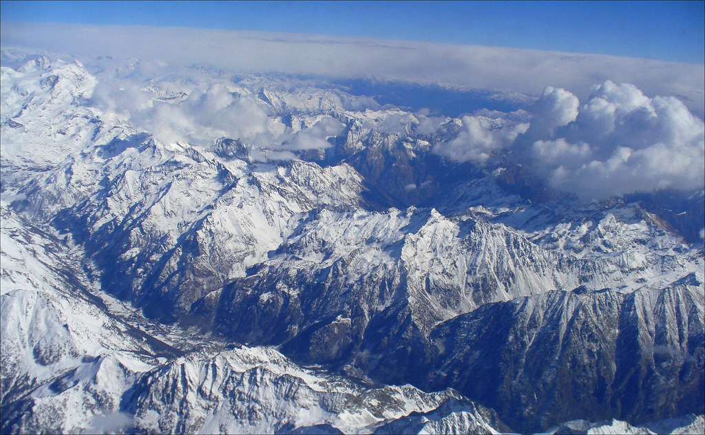 aerial view of the Alps 2 | Kayla Sawyer | Flickr