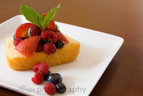 Mixed Berries with Limoncello on Lemon Yogurt Cake | by t.sullivan photography