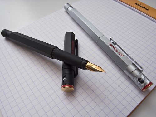 rotring 600 gold fountain pens | by calcul8er