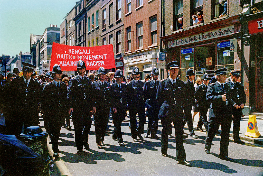 Anti National Front Demonstration Brick Lane 1978 Altab