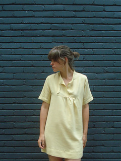 Carpenter Dress is Yellow Linen | by shaybelle!