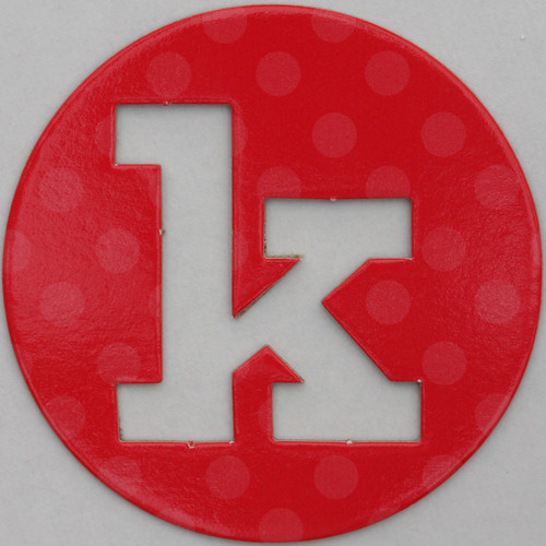 coloured card disc letter k | by Leo Reynolds