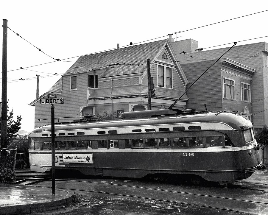 San Francisco Municipal Railway Pcc Electric Streetcar