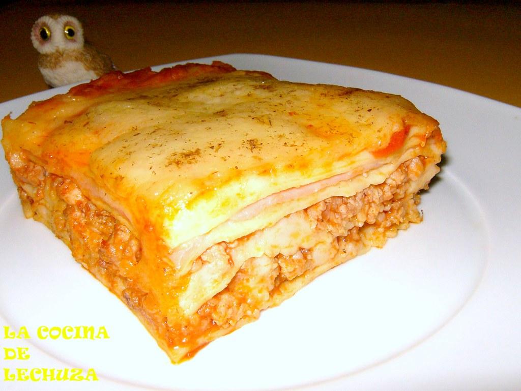 ... Lasaña Boloñesa Porción Plato Clara   By La Lechuza Que Cocina