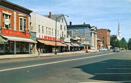 Wakefield Massachusetts 1965 Postcard Featuring Main