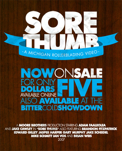 Sore Thumb Sale Flyer Graphic Design Nick Moore – Sale Flyer Design