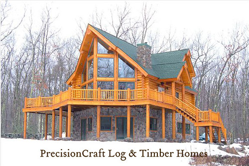 Exterior View | Custom Design Log Home | PrecisionCraft Log Homes | by PrecisionCraft Log & Timber Homes