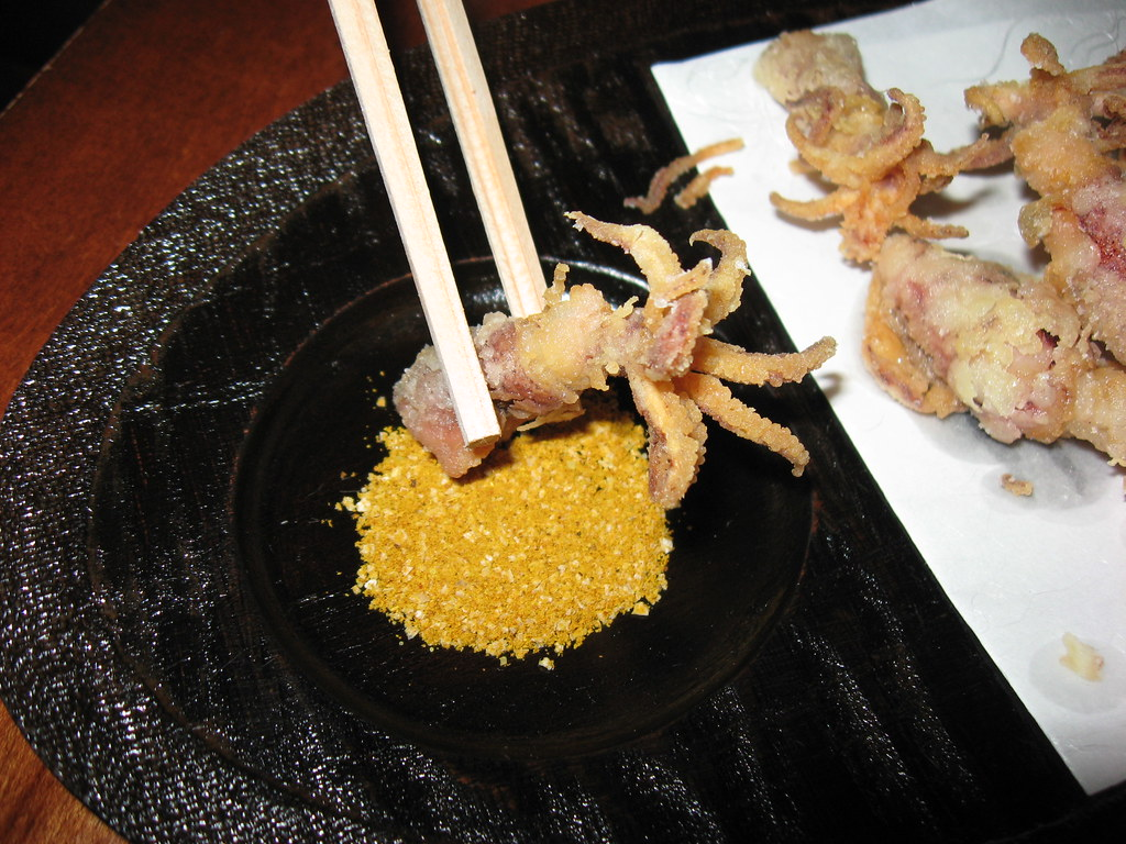 Bar Masa: Baby squid dipped in curried salt