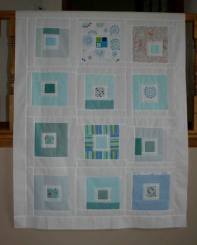 blue squares quilt top | by crazymomquilts
