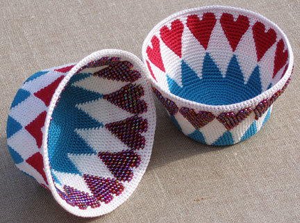 Bead Tapestry Crochet Heart Basket A free tutorial and ...