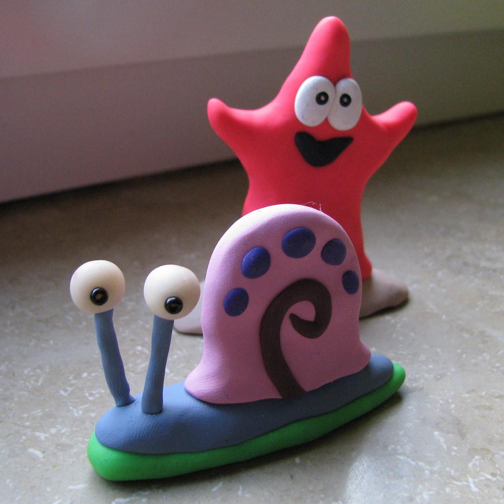 gary the snail u0026 patrick star spongebob gary u0027s eyes glow u2026 flickr