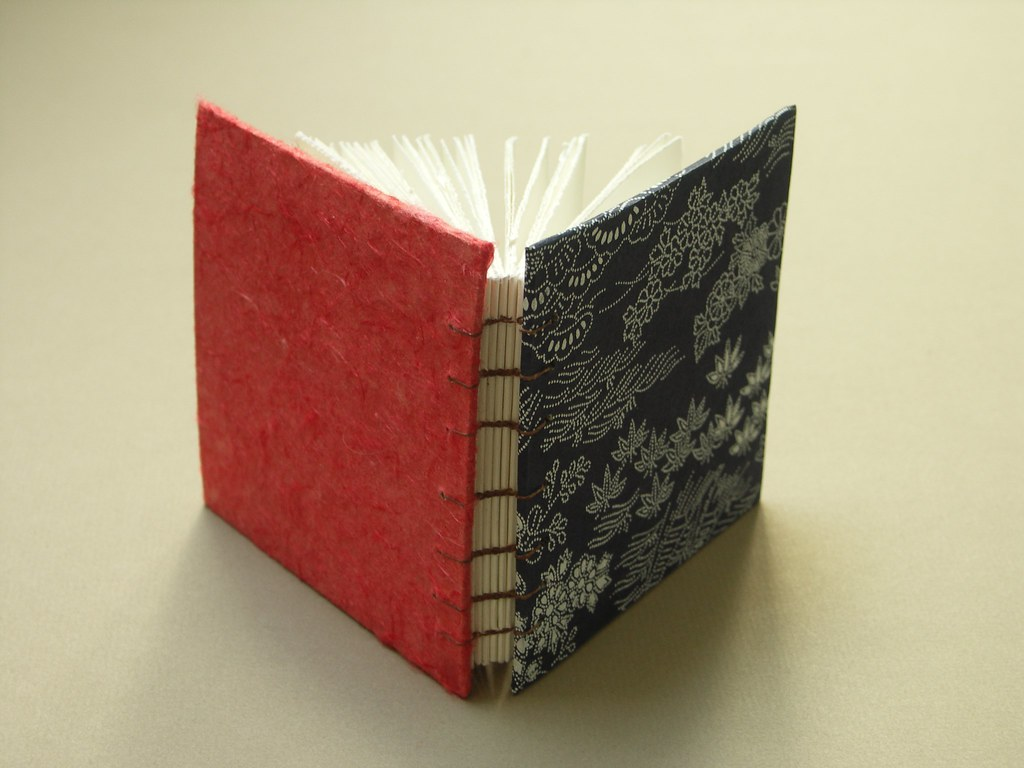 Mini Origami Paper Book Spine | Mini blank book made with ... - photo#28