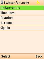 locify twitter menu