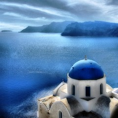 View of Santorini | by Stefania Maria Livraghi