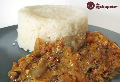 Receta de arroz basmati con jam n y setas www - Arroz con alcachofas y jamon ...