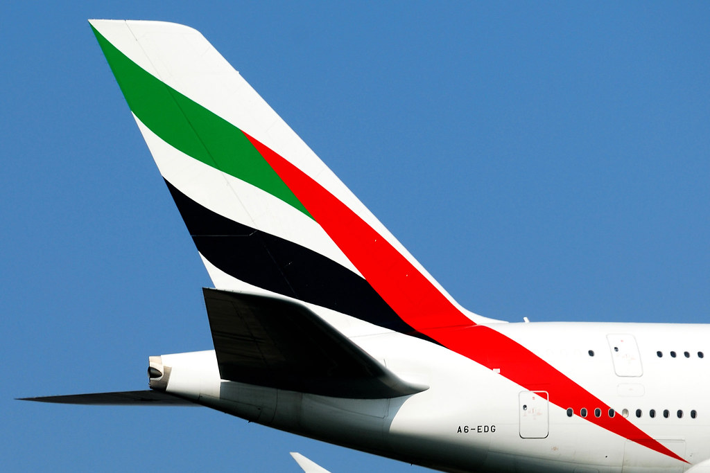 Emirates Airlines Airbus A380 861 Tail A6 Edg Msn 23 Flickr