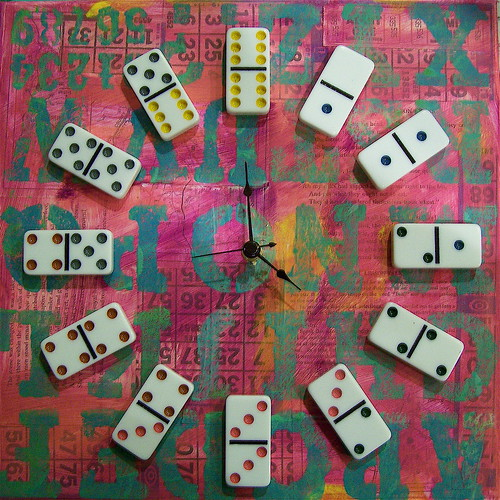tick tock, a domino clock ..... | by eeeee